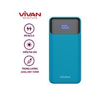 Pin Sạc Dự Phòng 10000mAh VIVAN VPB-X10 Sạc Nhanh PD/QC 3.0 20W - Output Type C & USB - Hàng chính hãng