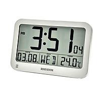 Đồng hồ để bàn, báo thức hiệu RHYTHM - JAPAN LCT084NR19- LCD CLOCKS - Vỏ Nhựa cao cấp ( Kích thước 22.4 x 15 x 1.8cm)