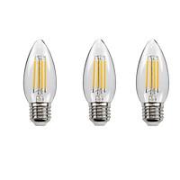 Bộ 3 bóng đèn Led Edison C35 4W hình quả nhót đui E27
