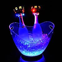 Xô đá ướp rượu bia  hình chiếc thuyền đèn led 7 mầu