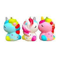 Squishy Unicorn , squishy pony , squishy chậm tăng , squishy ngựa pony ú ù xinh xắn kiểu dáng nhỏ nhắn - Giao màu ngẫu nhiên - Tặng kèm dây treo móc khoá
