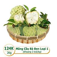 [Rau Củ Trái Cây - Giao nhanh HCM] Combo mãng cầu Bà Đen Tây Ninh Loại 1 (2Kg - Khoảng 3 trái/kg)