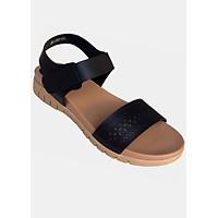 Giày sandal đen đế bệt cao cấp TH_SD045