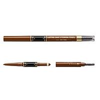 Bút Vẽ Lông Mày 3 Đầu K-Palette Eyebrow Pencil Chống Nước Lâu Trôi 24h (03 Màu nâu mocha)