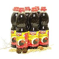 Lốc 6 chai nước tương đậu nành Bông Mai (480ml x 6) - Đậm đà hương vị xưa