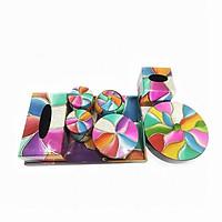 Bộ khay mứt lập thể MNV – QT003 (1 hộp mứt, 1 hũ tròn, 1 khay, 1 hộp khăn giấy chữ nhật, 1 hộp khăn giấy vuông, 1 hũ cam, 2 hũ trà)