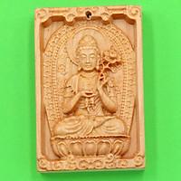 Mặt Phật bản mệnh gỗ hoàng đàn Đại Thế Chí MGPBM4 - Phật bản mệnh cho người tuổi Ngọ - Sản phẩm phong thủy phù hợp cho nam