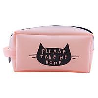 Bóp Viết Nhựa Hình Mèo - Cam (9.5 x 16cm)