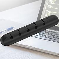 Thanh dán cố đinh 5 lỗ dành cho cáp sạc tai nghe hàng nhập khẩu silicon cao cấp