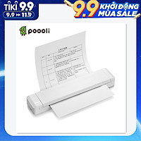 Poooli A4 Paper Printer Direct Thermal Transfer Printer Mobile Printer Portable Photo Printer BT Wireless Connection