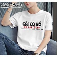 Áo Phông Tay Lỡ Nam Nữ Unisex Việt Nam Gái Có Bồ Như Hoa Có Chủ 100% Cotton Thoáng Mát Phong Cách Dáng Suông