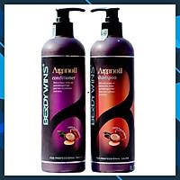 Bộ dầu gội xả BERDYWINS Argan Oil siêu mượt phục hồi tóc hư tổn 500ML