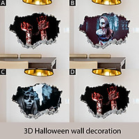Wall Sticker 3D Happy Halloween Room Floor Stickers  Stranger Removable Mural Home Decor