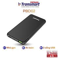 Sạc dự phòng 10000mAh Tronsmart Sạc nhanh PD QC 3.0 2 cổng USB + USB-C - Hàng phân phối chính hãng- Hàng Chính Hãng