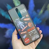 Ốp lưng cho Xiaomi Redmi Note 8 Pro nhám viền màu in hình