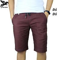 quần short kaki nam lưng thun vải cotton dày đẹp mặc thoải mái may bởi Thái Khang