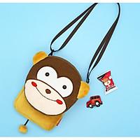 Túi đeo chéo cho bé gấu bông hình con khỉ