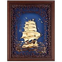 Khung tranh kèm tranh thuyền buồm DD01