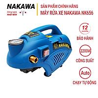 Máy rửa xe Nakawa NK656, Công suất 2200W, Máy phun dùng cho gia đình, Công nghệ Nhật Bản