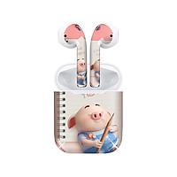 Miếng dán skin chống bẩn cho tai nghe AirPods in hình Heo con dễ thương - HEO2k19 - 083 (bản không dây 1 và 2)
