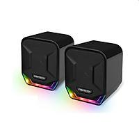 Loa vi tính Gaming có ánh sáng LED siêu gọn nhẹ dùng cho máy tính, laptop, điện thoại - Fantech GS202 SONAR - Hàng chính hãng