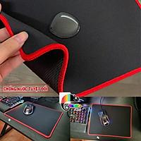 Bàn di chuột chuyên game, chống nước viền đỏ size 32x25x0.3cm, khâu viền chắc chắn, di cực đã I Gaming Mouse Pad Speed