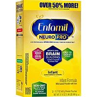 Sữa Bột Enfamil NeuroPro Infant Formula (Dành cho trẻ 0 - 12 tháng tuổi) (Hộp giấy BIB 890gr)