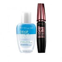 Combo Mascara Maybelline Volum' Express Hyper Curl (9.2ml) Và Nước Tẩy Trang Mắt Môi Maybelline – 40ml