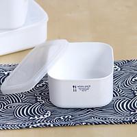 Hộp nhựa bảo quản thực phẩm có nắp mềm Nakaya White Pack - Made in Japan