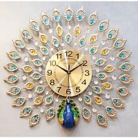 Đồng hồ treo tường trang trí chim công (DNS-09)