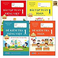 Sách - Combo Bài Tập Tuần và Đề Kiểm Tra Lớp 1 Kết Nối Tri Thức Với Cuộc Sống - Môn Toán và Tiếng Việt học kì 2 (4 cuốn)