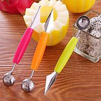 Combo 2 dụng cụ gọt tỉa trái cây 2 đầu ( tặng kèm móc PKS)