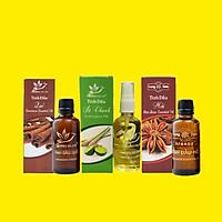 Combo 3 tinh dầu ( Hồi + Sả Chanh + Quế ) nguyên chất 100% - 20ml