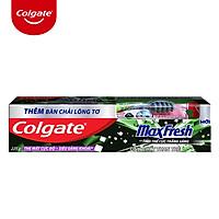 Kem đánh răng Colgate Maxfresh Bamboo Charcoal 225g kèm bàn chải lông tơ phủ than