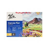 Sổ Canvas Toan Vẽ Màu Acrylic,Sơn Dầu, Canvas Pad 10 Tờ Toan, 280Gsm A5/A4/A3 Mont Marte