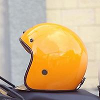 Mũ Bảo Hiểm 3/4 SRT N68 Phiên Bản Đặc Điệt Vàng Bóng Luxury Siêu Sang Freesize
