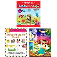 Bộ Sách Dành Cho Bé Trai Từ 3 -6 Tuổi: Aladdin Và Cây Đèn Thần + Truyện Kể Trước Khi Ngủ - Tự Tin + Những Từ Tiếng Anh Đầu Tiên (Bộ 3 Cuốn)