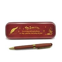 Hộp bút Gỗ thông nâu đỏ tặng Thầy Cô