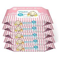 Bộ 5 gói khăn giấy ướt Hàn Quốc Living Aloe...