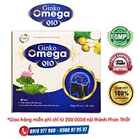 GINKGO OMEGA Q10 - Giúp hoạt huyết, tăng cường tuần hoàn não, hỗ trợ làm giảm triệu chứng thiểu năng tuần hoàn não như: khó ngủ, mất ngủ, đau đầu, hoa måt, chóng mặt, đau mỏi vai gáy