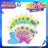Combo 7 Gói miếng rửa chén linh hoạt iHomeda + 5 Gói miếng chùi nồi iHomeda TẶNG tay cầm tiện dụng
