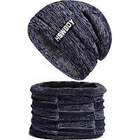 Combo Mũ len nam và khăn quàng cổ