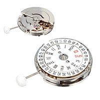 For MIYOTA 8205 Mechanical Automatic Watch Movement Calendar Display White Dial