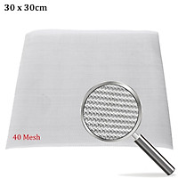 """30x30cm 40 Mesh / 425 Micron Stainless Steel Filter Filtration Woven Wire Screen 12""""X12""""Scope Throughout The Mining Petroleum Chemical Food Machinery Manufacturing Construction Decoration Electronics Aerospace"""