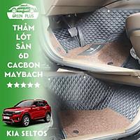 Thảm lót sàn ô tô 5D,6D Cacbon Maybach Kia Seltos