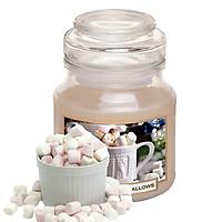 Hũ nến thơm tinh dầu Bartek Christmas Marshmallows 130g QT06652 - kẹo dẻo vani