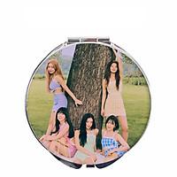 gương mini trang điểm 2 mặt hình nhóm kpop