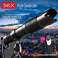 Universal 36x Zoom Mobile Phone Telescope Lens Telephoto External Smartphone Camera Lens