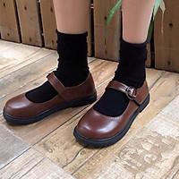 Giày búp bê lolita nữ da PU phong cách Lolita Ulzzang-FORM TO (G6)