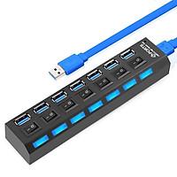 Hub USB 7 port - 3.0 có công tắc - màu ngẫu nhiên